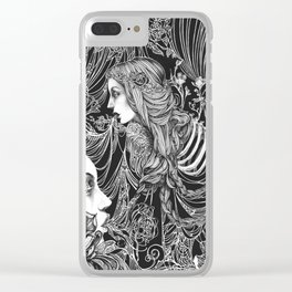 Brimming Thoughts Clear iPhone Case