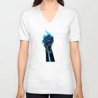 dragon age V-neck T-shirts featuring Dragon Age- Ander's Manifesto by Tori Mckenna