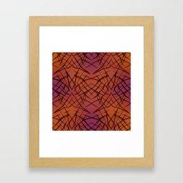 Brown red pattern . Framed Art Print