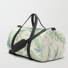 Green Tropical Leaves Duffle Bag
