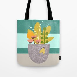 Succulent Garden with Moth Tote Bag