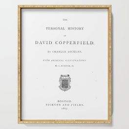 David Copperfield Charles Dickens Title Page Serving Tray