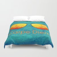 carpe diem Duvet Covers featuring Carpe Diem by Leah M. Gunther Photography & Design