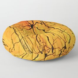 Neural Activity (An Ode to Cajal) Floor Pillow