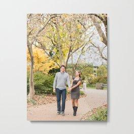 Fall walk in the park Metal Print