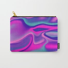 Liquid Bold Vibrant Colorful Abstract Paint in Blue, Pink and Purple Carry-All Pouch