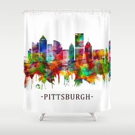 Pittsburgh Pennsylvania Skyline Shower Curtain