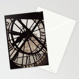 Passing of time in sepia tones. View from the Musée d'Orsay in Paris. Stationery Cards