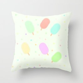 Smoothy Ice-Creams Throw Pillow