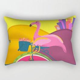 Flamingos Day Out Rectangular Pillow