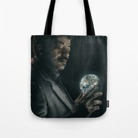 cosmos Tote Bags featuring Cosmos by mycolour