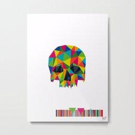 Geo skull Metal Print