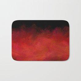 Abstract Red Black Dark Matter Bath Mat
