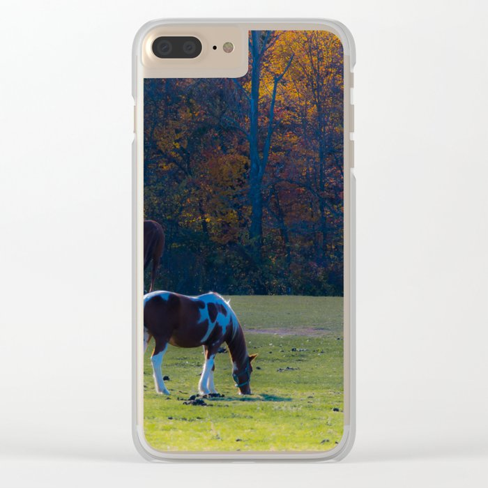You Faded Away Like Autumn Leaves Clear iPhone Case