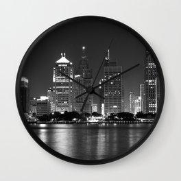 Cityscape (Black & White) Wall Clock
