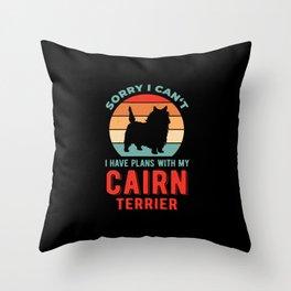 Funny Cairn Terrier Throw Pillow