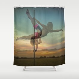Pole Moves Shower Curtain