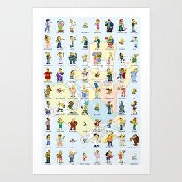 Springfield Characters Art Print
