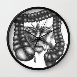 Embark for lunar eternity Wall Clock