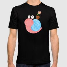 Pink Snail (female) Black Mens Fitted Tee MEDIUM