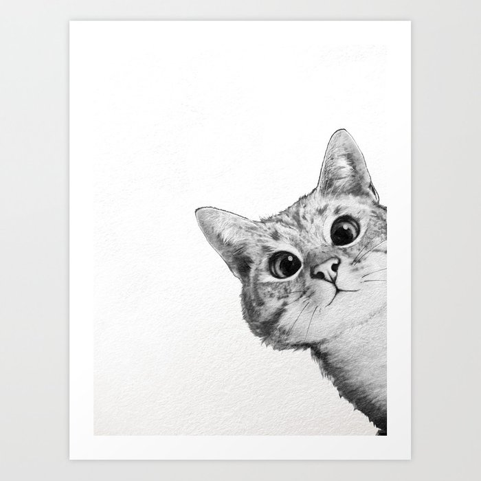 Sneaky Cat Art Print By Lauragraves Society6