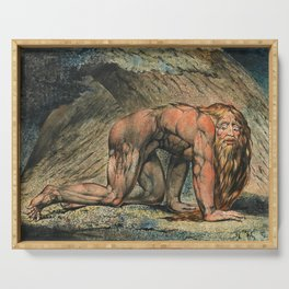 William Blake - Nebuchadnezzar, 1795 Serving Tray