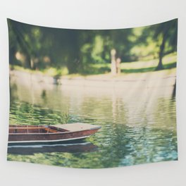 Sunday morning punting on the River Cam Wall Tapestry