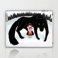 Little Red Riding Hood and the Big Bad Wolf Laptop & iPad Skin