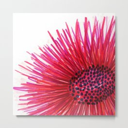 Pink-Red Sun Flower Metal Print