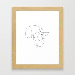 One Line For Dilla Framed Art Print