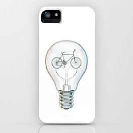Light Bicycle Bulb iPhone Case
