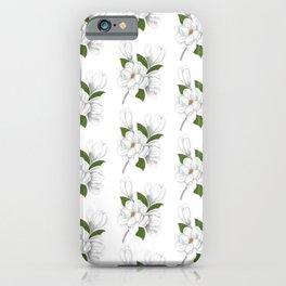 Magnolia Digital Illustration iPhone Case