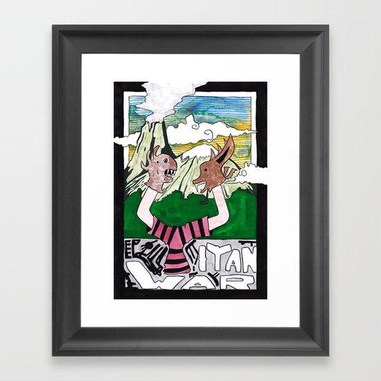 Titan War Framed Art Print