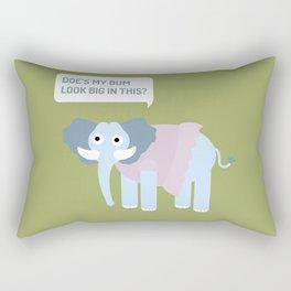 Elephant in tutu Rectangular Pillow