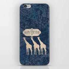 Holiday Giraffes - Holidaze iPhone & iPod Skin