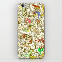 Kamasutra LOVE - Retro Yellow iPhone Skin