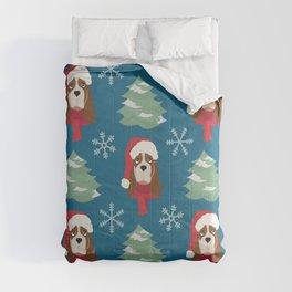 Basset Hound Christmas Dog Comforters