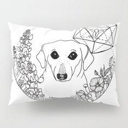Geometric Dachshund Garden Pillow Sham