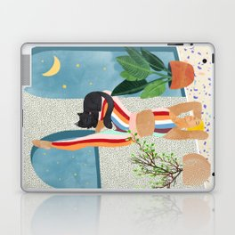 Headstand #illustration #yoga #pets Laptop & iPad Skin