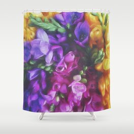 Freesias Shower Curtain