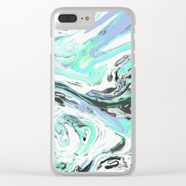 FINGERPRINT IN NATURE - DAYDREAM BLUE Clear iPhone Case