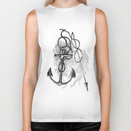 Anchor and harpoon. Biker Tank