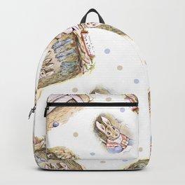 Rabbit Mommy vintage Beatrix Potter design Backpack