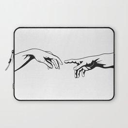 Adam and God hands Laptop Sleeve