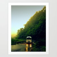 Mountain Bus Art Print