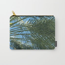 Island Palm Tree Upshot In Tropical Azure Sky Carry-All Pouch