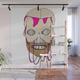 Skull Head Street Art Design Wall Mural