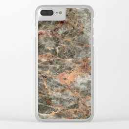 Marble Salome Clear iPhone Case