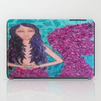 fitzgerald iPad Cases featuring Cordelia Fitzgerald the Mermaid by inara77
