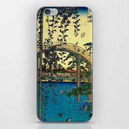 Hiroshige View Of Bridge Over Water iPhone Skin